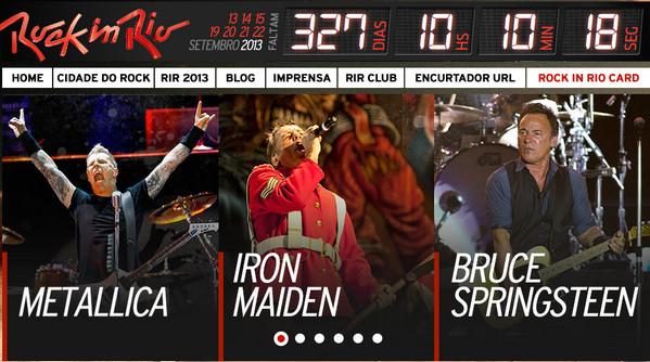 Bruce zahraje na festivalu Rock in Rio, 15. září 2013